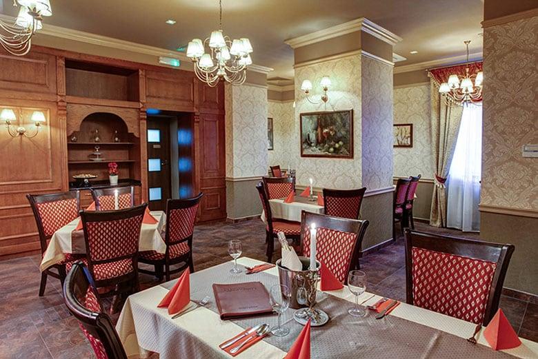 Restauracja Europejska - wnętrze restauracji Hotelu Europejskiego