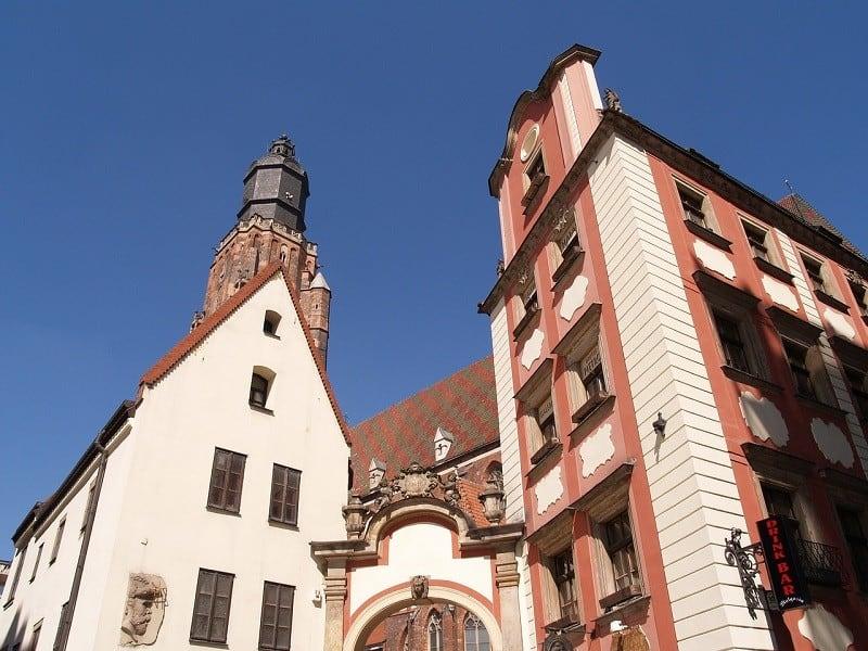 Kamienice Jaś i Małgosia na wrocławskim rynku