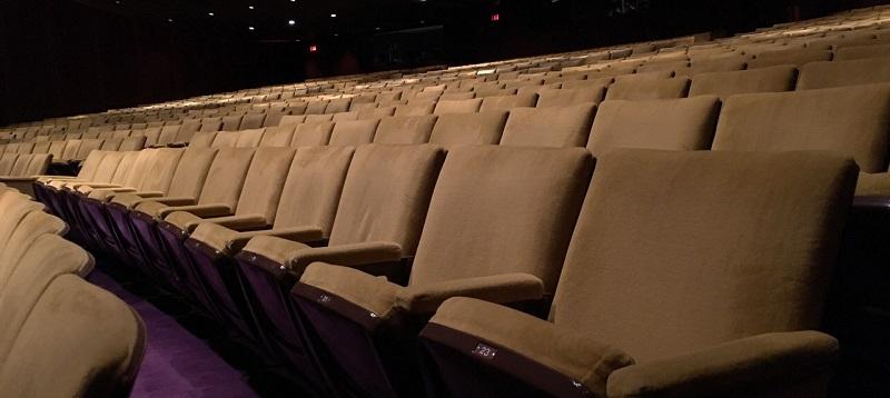 Wnętrze sali kinowej gdzie ma miejsce festiwal Nowe Horyzonty