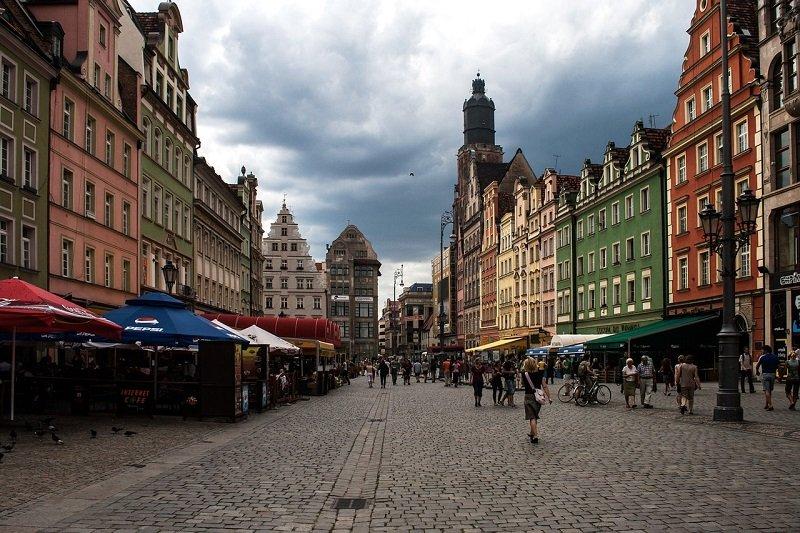 Pełen zabytków Rynek we Wrocławiu