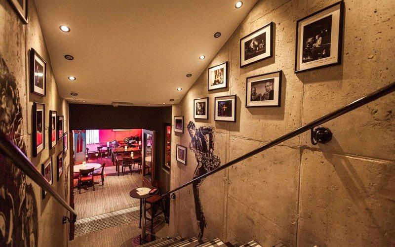 Wnętrze restauracji jazzowej Vertigo