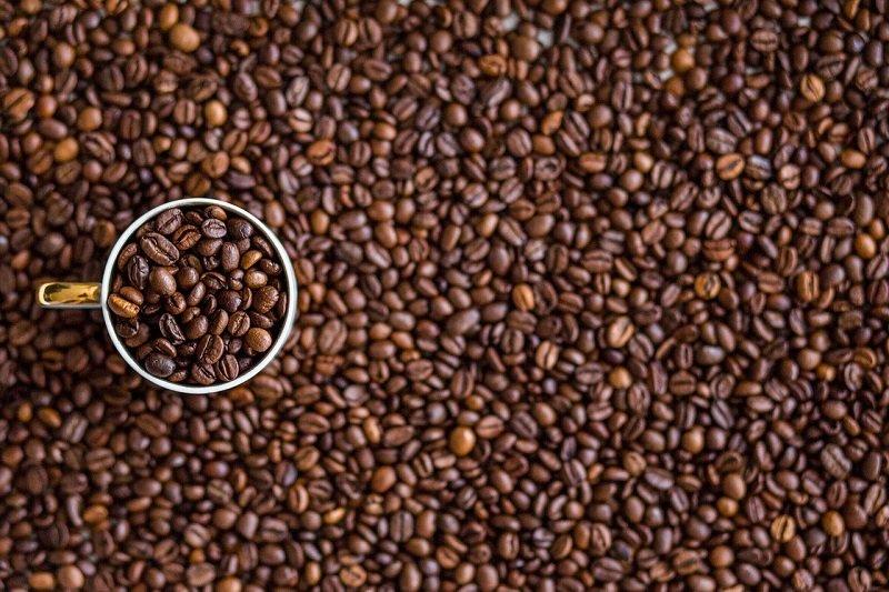 Ziarna aromatycznej kawy