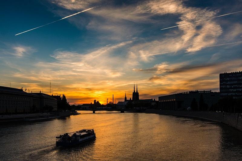 Romantyczny widok na Wrocław