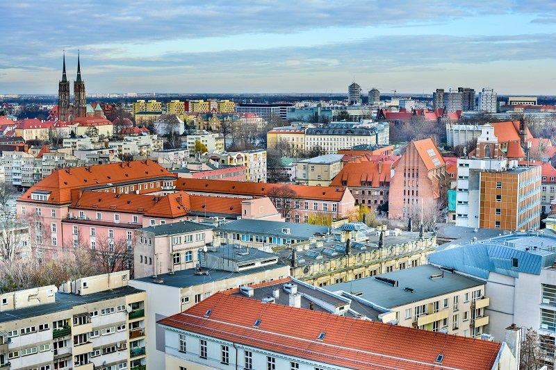 Wrocławskie budynki blisko Rynku