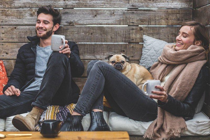 Relaksująca się para